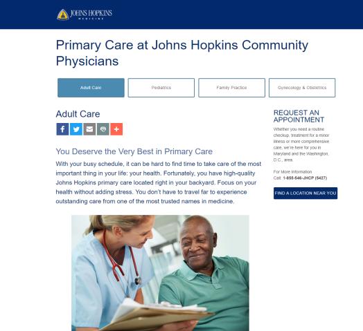 New Patient Acquisition @ Johns Hopkins – Quentin J  Cheeks